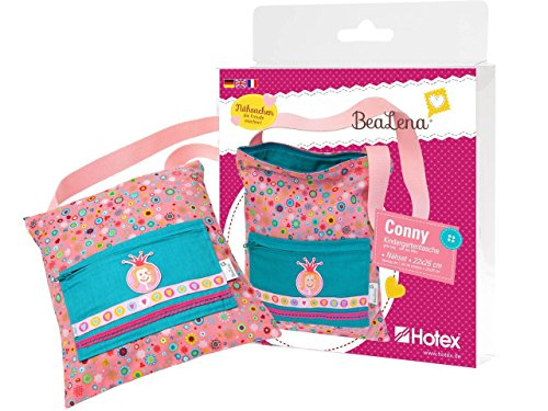 Nähset Kindergartentasche Conny, mit Stoffen, Augen, Aufbügelmotiv und Borden