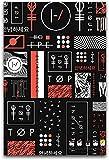 shmeksss Rock Poster Twenty One Pilots Leinwand Kunst