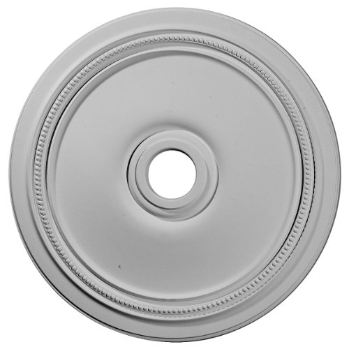 "Ekena Millwork CM24DI Diane Ceiling Medallion, 24""OD x 3 5/8""ID x 1 1/4""P (Fits Canopies up to 6 1/4""), Factory Primed"