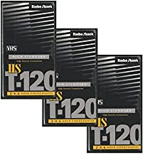Bulk Buy: Lot of 3 Radio Shack VHS High Standard High Density Formulation T-120 Black Tapes