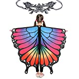 Butterfly Wings for Girls Kids Halloween Costume Fairy Shawl Festival Rave Dress (Kids(fluorescent))