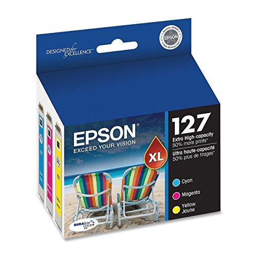 Epson DURABrite T127 Ultra 127 Extra High-capacity Inkjet Cartridge Bulk