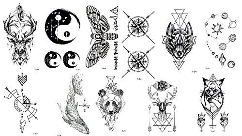 11 Bögen Kompass Planeten Hirsch Tattoos Festival Tattoos