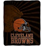 Officially Licensed NFL Cleveland Browns 'Strobe' Sherpa on Sherpa Throw Blanket, 50' x 60', Multi Color