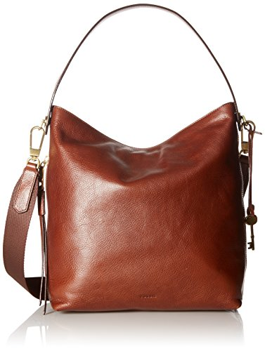 Genuine leather with synthetic leather trim; zipper closure; imported Exterior Details: 1 side zipper pocket; brass hardware Interior Details: 1 zipper pocket, 2 slide pockets; polyester lining Measurements: 12 inches Length x 4 inches Width x 12 inc...