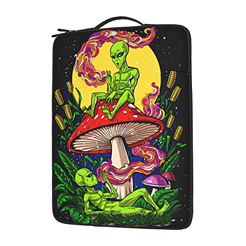 Trippy Alien Laptop Case Laptop Sleeve Case for 15.6in Computer Carrying Case Compatible with 13-13.3 Inch Notebook Protective Bag with Handle Water Resistant 15.6 Inch