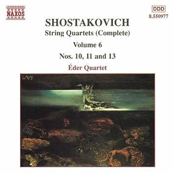 SHOSTAKOVICH: String Quartets Nos. 10, 11 and 13