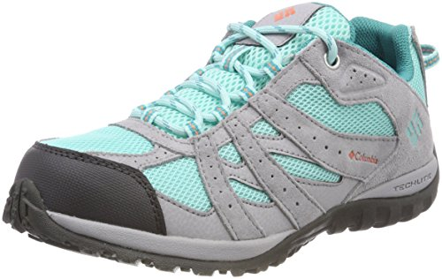 Columbia Youth Redmond Waterproof, Zapatillas de Senderismo Unisex Niños, Gris (Gulf Stream,...