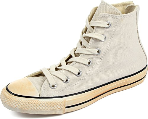 Converse Chuck Taylor All Star Homme Vintage Washed Back Zip Twill Hi, Herren Sneaker, Weiß - Weiß - Vintage Washed Twill Turtledove - Größe: EUR 35