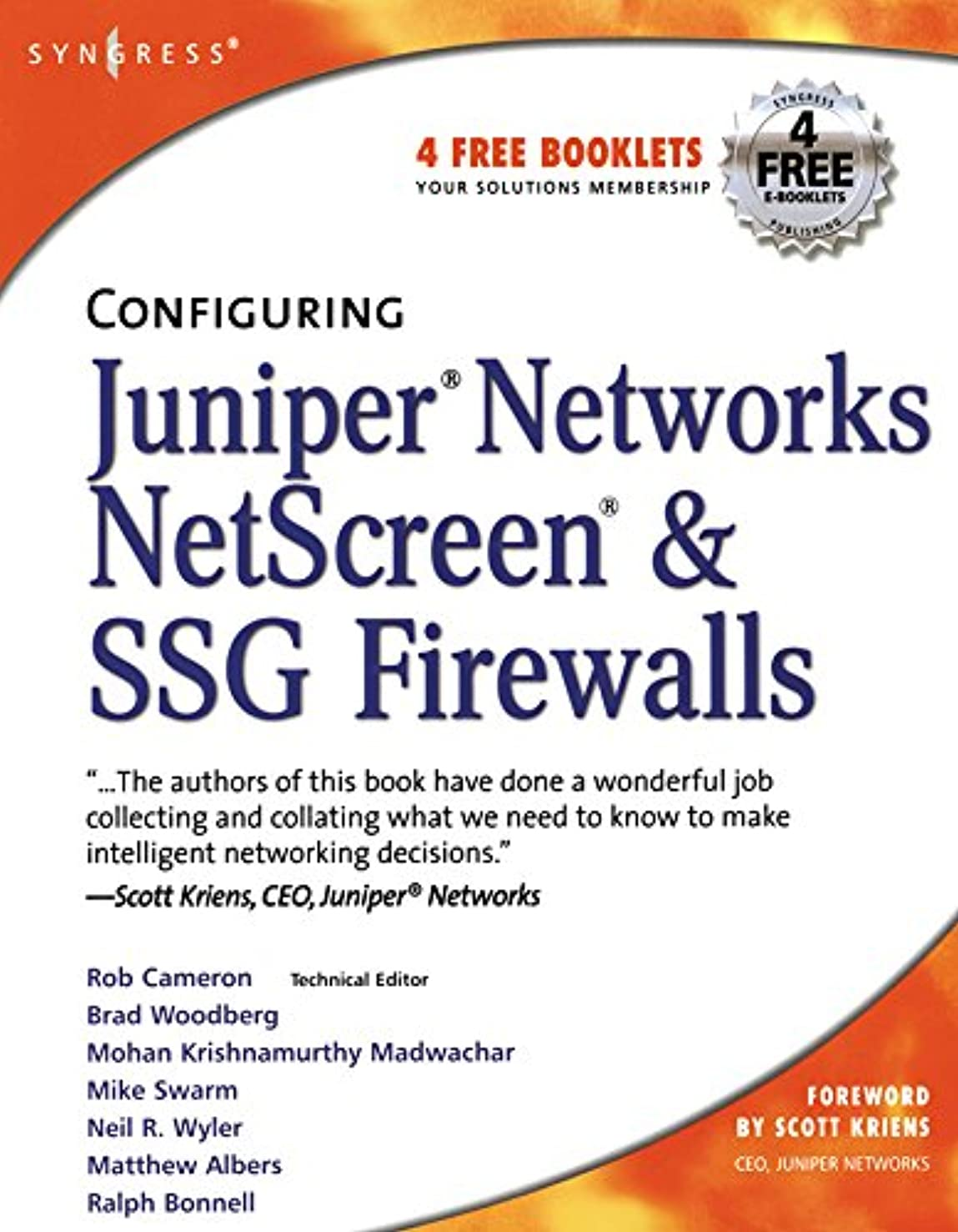 再開もつれ金曜日Configuring Juniper Networks NetScreen and SSG Firewalls (English Edition)