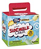 Toysmith Jumbo Sidewalk Chalk, Assorted Colors (Packaging May Vary), Model Number: 2551 (Toy)