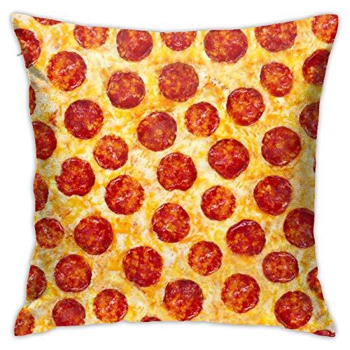 Lawenp Pepperoni Pizza, una Textura de Comida sin Costuras, Fundas de Almohada, 18x18 Pulgadas, Funda de Almohada, Funda de cojín para el hogar