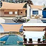 Voigoo Sun-Shelter Impermeabile Parasole Vela Outdoor Rettangolo Ombra Vela Giardino terrazza Canopy Nuoto Yard Sail Beach Noleggio Tenda