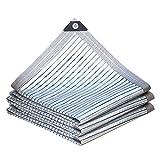 Red de sombra Chunlan Toldos Exterior Terraza de Foil de Aluminio 75% Toldo Vela de Sombra ProteccióN UV Ojales Patio Interior Cubierta para Coche Antracita(Size:2X3m)