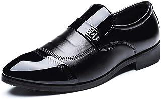 [SRUQ] ビジネスシューズ 外羽根 ストレートチップ メンズ 革靴 紳士靴