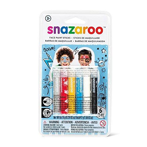 Snazaroo - Barras de pintura facial para chicos, set de 6