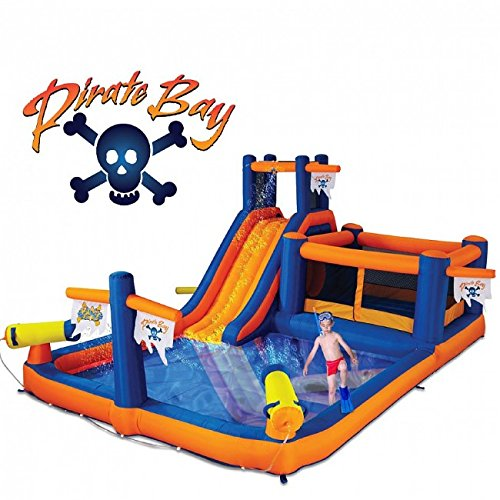 Blast Zone Pirate Bay Inflatable Water Park
