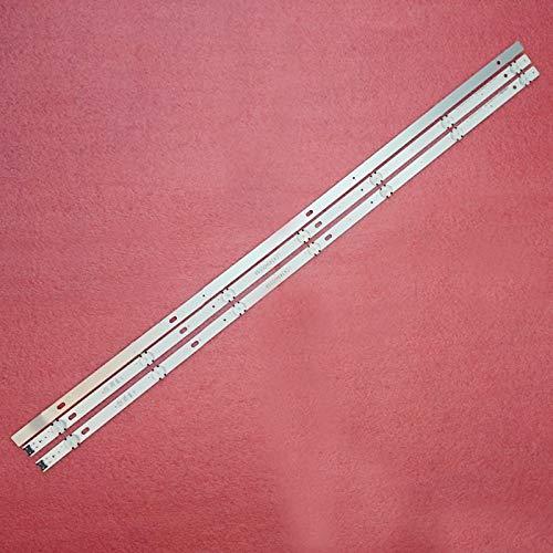 Juego de 3 tiras de retroiluminación LED de 7 LED de 830 mm para LG 43UJ651V 43UJ701V 43UJ65_UHD_L EAU63673004 innotek 17Y 43