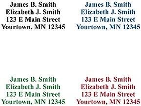 Basic Self-Inking Address Stamp (4 Lines) - Blue Ink