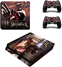 Playstation 4 Slim Skin Set – Video Game - HD Printing Vinyl Skin Cover Slimtective for PS4 Slim Console and 2 PS4 Controller by okanhyeu.
