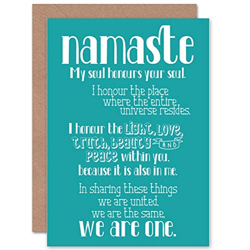 Wee Blue Coo Card Greeting Gift Quote TYPOGRAPH Text Namaste BLUEBOARD Definition