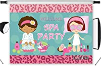 HD Spa Party Backdrop Beauty Girls Women Tea Party Photography Background Spa Party Banner 10x7ft Custom Vinyl Photo Studio Props
