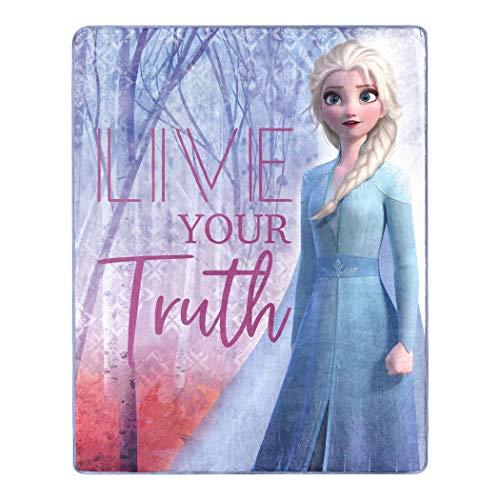 Disney Frozen 2 Elsa Live Your Truth Silk Touch Throw Blanket