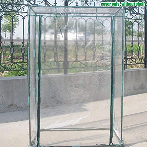 Liery - Cubierta de Repuesto para Invernadero (PVC, 100 x 50 x 150 cm, Apta para estanterías de 100 x 50 x 150 cm (Solo la Funda, sin Soporte de Hierro, sin Maceta)
