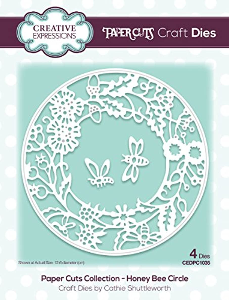 Creative Expressions Paper Cuts Collection Honey Bee Circle Craft Dies