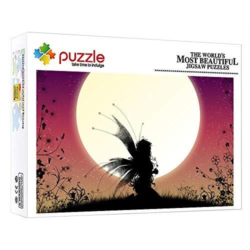 ZTCLXJ 1000 Piezas Puzzles Progresivos Rompecabezas 1000 Piezas Luna De Hadas para Niños Adultos Juguetes para Niños para La Decoración De La Pared De La Casa (38 × 26 Cm)