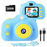 Kids Camera 1080P FHD Digital Video Camera with 2-inch IPS Screen Rechargeable Shockproof