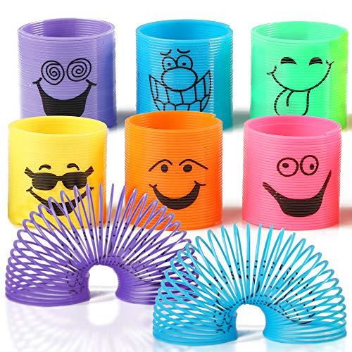 THE TWIDDLERS 96 Mini Spirale Magic Springs -ideales Innenspielzeug für Kinder - Lernspielzeug Treppenläufer Slinky PartyGiveaways, Geburtstage Beutel Füllmaterial & Halloween gastgeschenke