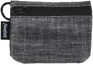 Flowfold Women's Mini Coin Purse Zipper Pouch Wallet - Light Weight - Made in the USA