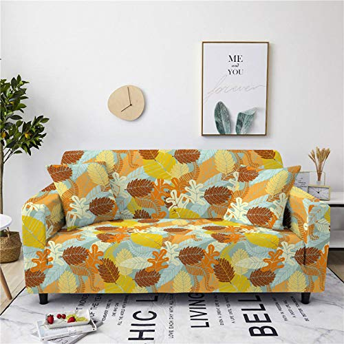Stretch Sofa Couch Covers Elastic Fabric Petal Pattern Armchair Loveseat Slipcover Settee Universal Cover Durable Furniture Protector From Dogs/Pets/Kids,3,seater 190,230cm