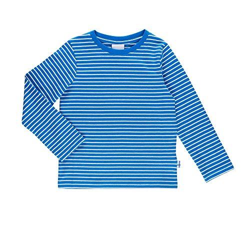Finkid Sampo blue offwhite Kinder Jersey Ringel langarm Shirt