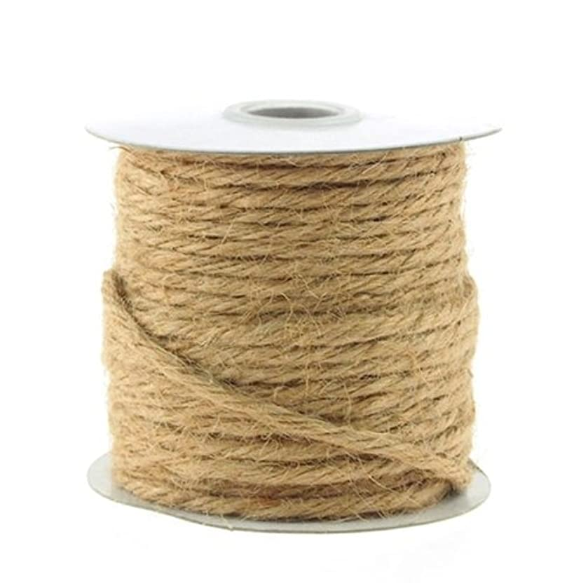 Homeford Firefly Imports Jute Twine Cord Rope Ribbon, 1/8-Inch, 25 Yards, Natural, 1/8
