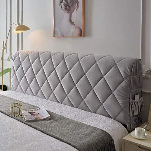 All-inclusive Sänggavlar Sänggavel Skydd Skydd Stretch Enfärgad Säng Sänggavel Överdrag För Singel Dubbel King Sänggavel (Color : Gray, Size : 1.2m)