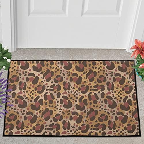 Veryday Felpudo para entrada o entrada, diseño de leopardo, 60 x 90 cm, color blanco