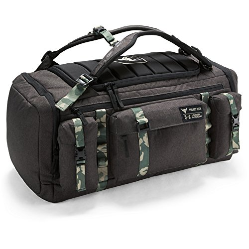UA X Project Rock USDNA Cordura Range Duffle Bag, Grau Camo