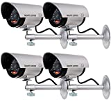 WALI Bullet Dummy Fake Surveillance Security CCTV Dome Camera Indoor Outdoor with one...