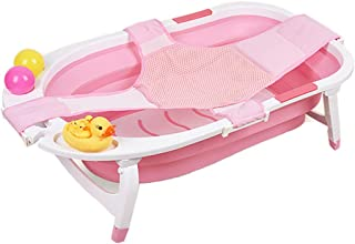 Foldable Bath Tub for Baby, Newborn, Infant | Portable Collapsible Shower Basin, Toddler Tub with Sling 32 X 19.5 X 9 inch