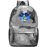 352 Fanta-sia Unisex Rucksack Neuheit Laptop Tasche Wasserdicht Reise Rucksäcke Schultaschen für Männer Frauen, grau, Einheitsgröße