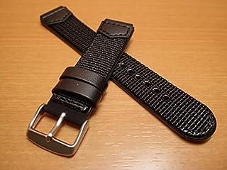 Traser トレーサー 腕時計 純正 TYPE3専用ストラップ バンド ベルト バネ棒つき BLACK ブラック【正規輸入品】18mm