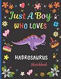 Just A Boy Who Loves Hadrosaurus Sketchbook: Cute Adorable Hadrosaurus Sketchbook Gifts For Boys . Hadrosaurus Sketch Pad For Sketching, Drawing and ... Painting Sketchbook Christmas Gift Idea.