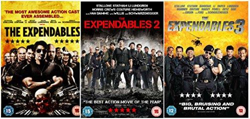 The Expendables Trilogy: The Expendables 1 / The Expendables 2 / The Expendables 3 Complete DVD Collection