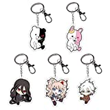 Peoria Danganronpa V3 Acrylic Pendant Keychain Set for Keys, Bags and Pencil Cases(5 Pack)