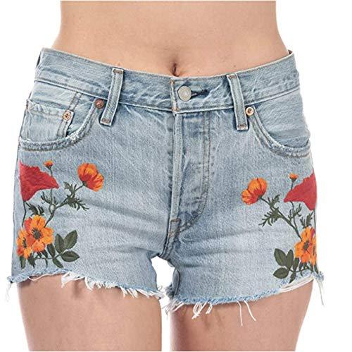 Levis Short 501 Wildflower Indigo Jean Denim Femme,Jean Denim,W29
