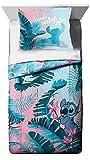 Jay Franco Disney Lilo & Stitch Floral Fun Full/QueenComforter & Sham Set