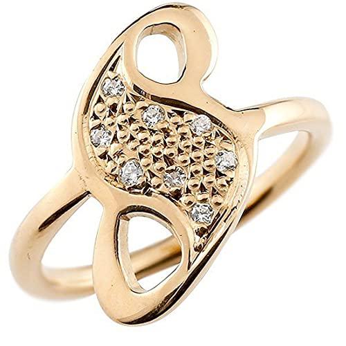 [アトラス]Atrus リング メンズ 10金 ピンクゴールドk10 キュービックジルコニア ナンバー8 指輪 数字 ストレート 29号