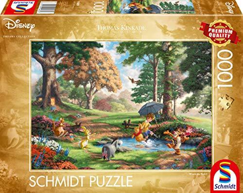 Schmidt Spiele 59689 Thomas Kinkade, Disney, Winnie The Pooh, 1.000 Teile Puzzle, bunt